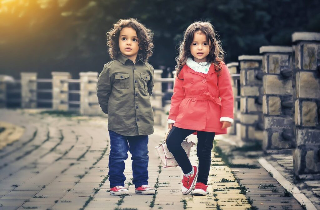 children dressed
